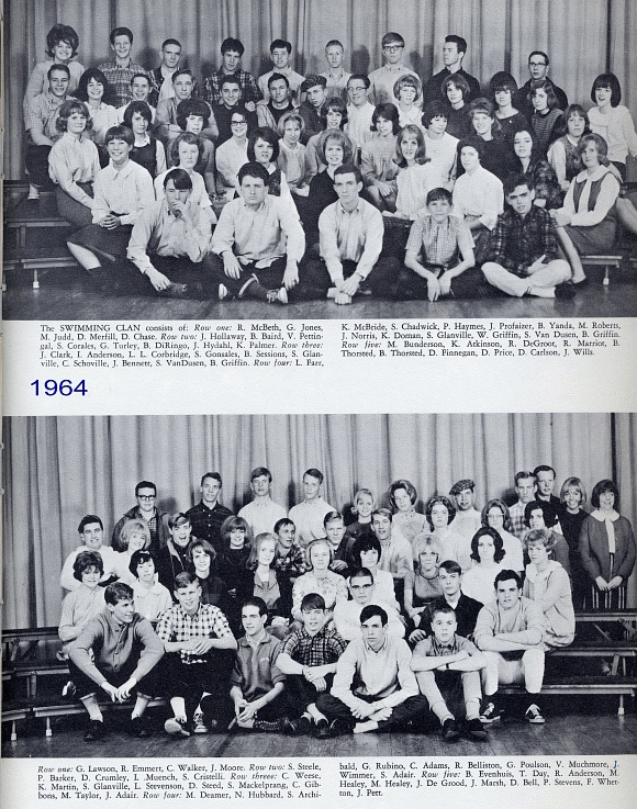 Class of 1965 ben lomond high school reunion yearbook eleventh grade swimming clan for Ben lomond high school swimming pool